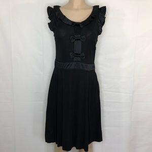 Marc by Marc Jacobs Black Ruffle & Bow Dress, Sz L